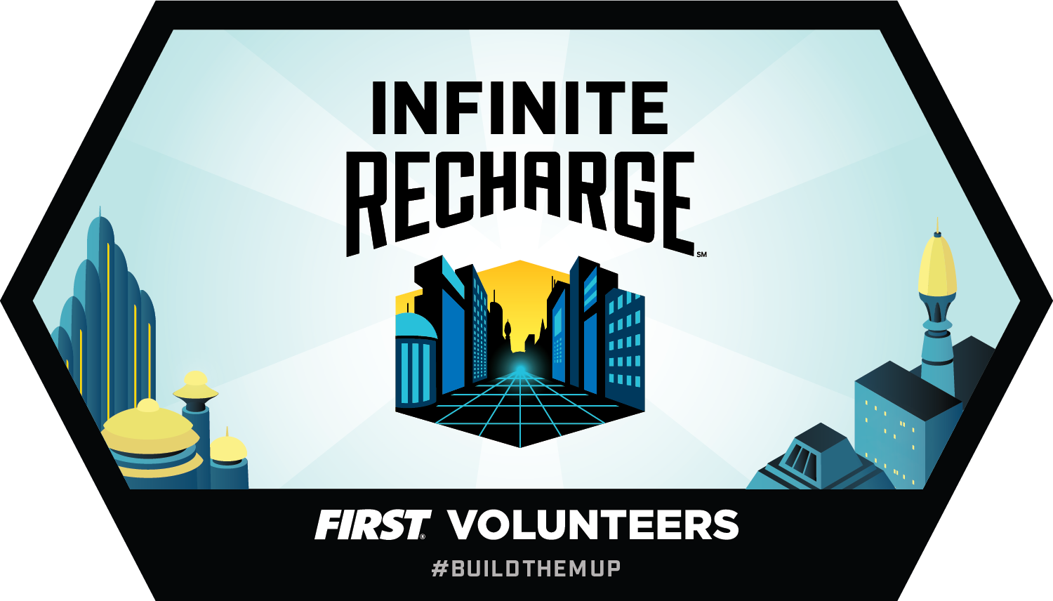 Build Tomorrow badge - INFINITE RECHARGE